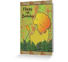Happy 1st Birthday Lion Greeting Card