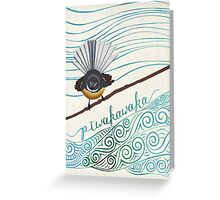 Pīwakawaka Greeting Card