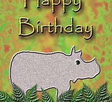 Happy Birthday Rhino  by jkartlife