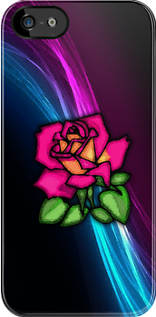 Rose Design iPhone Case by tychilcote