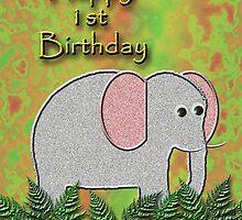 Happy 1st Birthday Elephant by jkartlife