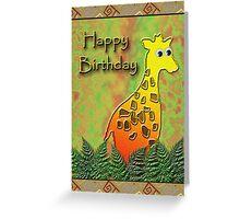 Happy Birthday Giraffe Greeting Card