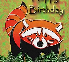Happy Birthday Red Panda by jkartlife