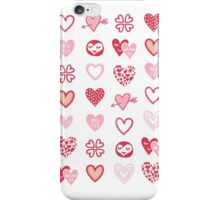 funny little hearts iPhone Case/Skin