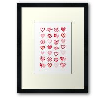 funny little hearts Framed Print