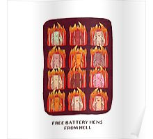 Free Battery Hens from Hell Poster