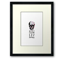 Keep claim and not drugs Skull Graphic (Color) Framed Print