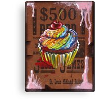 Jesse James' $500 Cupcake Canvas Print