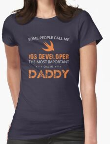 iOS Developer Womens Fitted T-Shirt