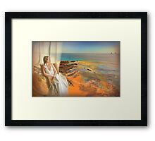 estoril window... Framed Print