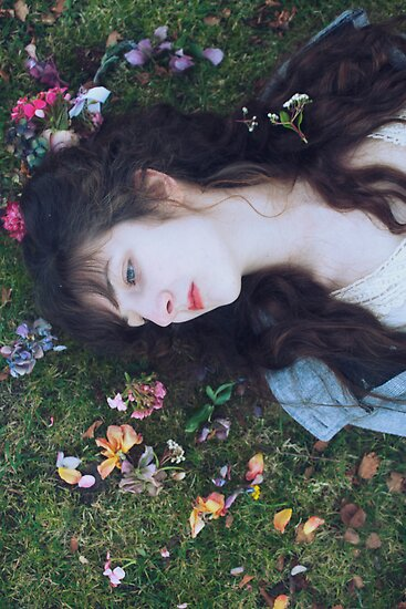 sara the fairy lies in summer flowers by connielovely