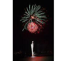 Fireworks - Australia Day 2013 - Geelong Photographic Print