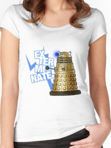 Doctor Who - EX-TER-MIN-ATE! Women's Fitted Scoop T-Shirt