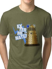 Doctor Who - EX-TER-MIN-ATE! Tri-blend T-Shirt