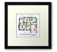House of Simpson family - Ground Floor Framed Print