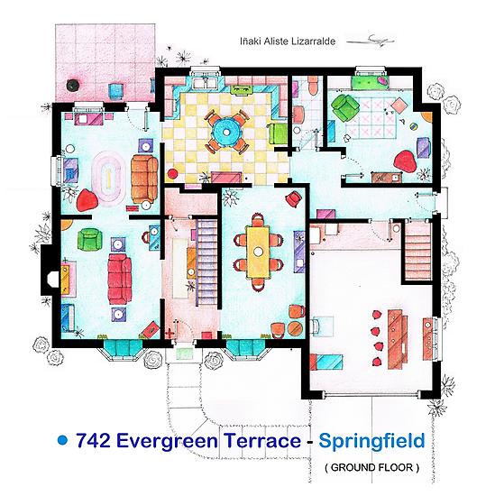 House of Simpson family - Ground Floor by Iñaki Aliste Lizarralde