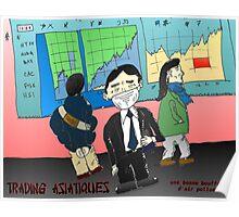 webcomic du trading asiatique et la mauvaise air Poster