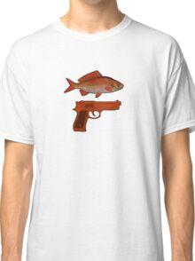 Red Fish Handgun Graphic Classic T-Shirt