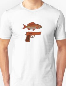 Red Fish Handgun Graphic T-Shirt