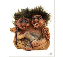Twin Troll Photographic Print