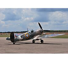 Spitfire on Runway Photographic Print
