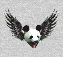 Action Wings Flying Polygonal Panda Power One Piece - Short Sleeve