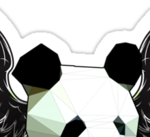 Action Wings Flying Polygonal Panda Power Sticker