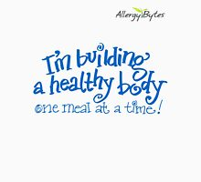 Building a Healthy Body T-shirt Blue Men's Baseball ¾ T-Shirt