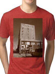 Abilene, Kansas - Hotel Sunflower Tri-blend T-Shirt
