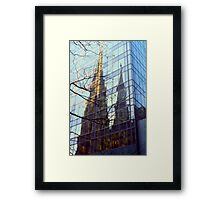 NYC Cathedral Reflection  Framed Print