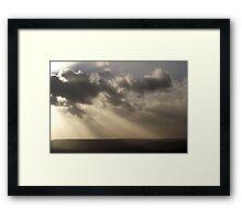 The Last Rays. Framed Print