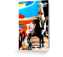 Surreal Abduction Greeting Card