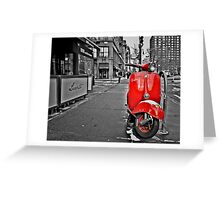 Village Vespa Greeting Card