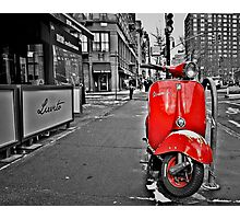 Village Vespa Photographic Print