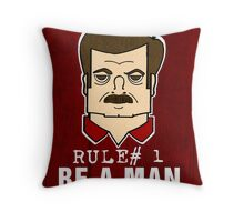 Rule#1 Be A Man Throw Pillow
