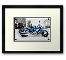 Ice Cool and Blue Framed Print