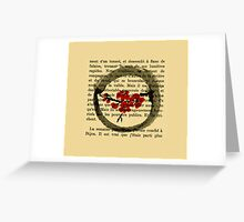 Zen Spring Circle Sumi-e Greeting Card