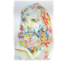 WALT WHITMAN / watercolor portrait.2 Poster