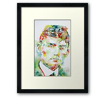 FRANZ KAFKA watercolor portrait.2 Framed Print