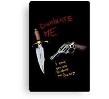 Knife & Gun Greeting Card Canvas Print