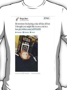 Ringo Starr tweets #5 T-Shirt