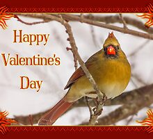Cardinal Red Valentine by Owed to Nature