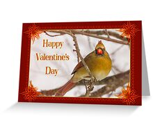 Cardinal Red Valentine Greeting Card