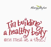 Building a Healthy Body T-shirt Red by Brynndabella