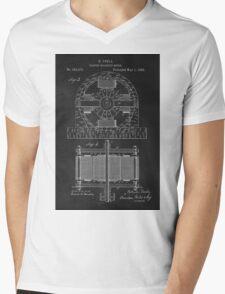 Tesla Coil Patent Art Mens V-Neck T-Shirt