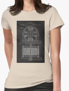 Tesla Coil Patent Art Womens Fitted T-Shirt