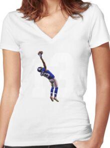 Catch it Like Beckham Women's Fitted V-Neck T-Shirt