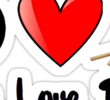 Peace, Love, Drums Sticker