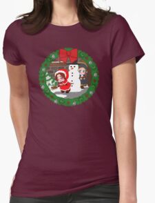 Christmas Chibitalia and Holy Rome Womens Fitted T-Shirt