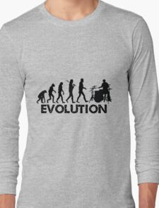 Evolution of a Drummer Long Sleeve T-Shirt
